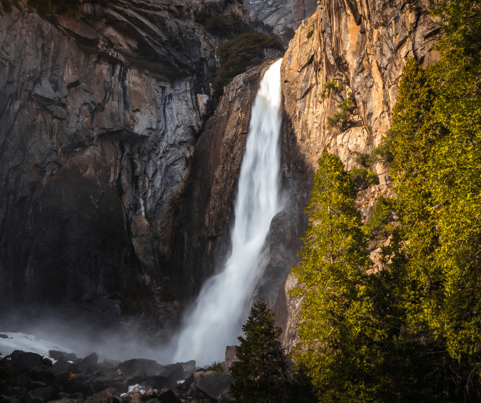 Lower Yosemite Falls is one of the most popular easy hikes in Yosemite