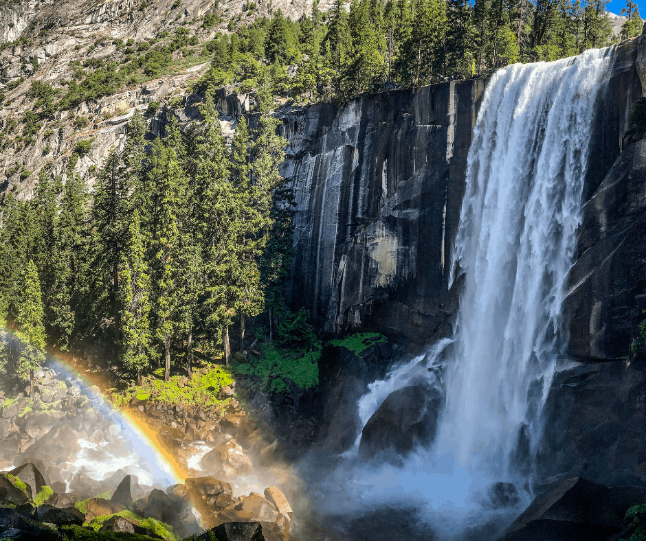 View of Vernal Falls from the Mist Trail